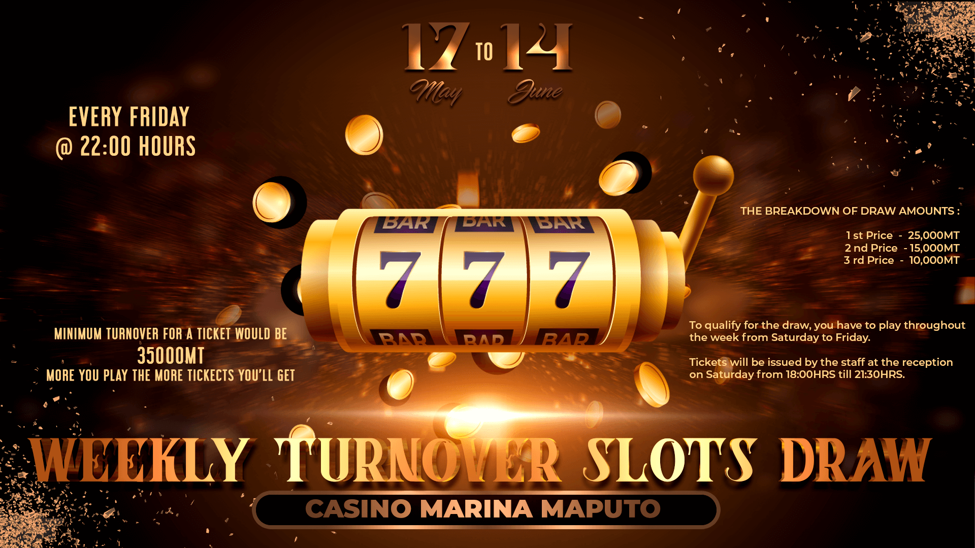 Weekly Turnover Slots Draw